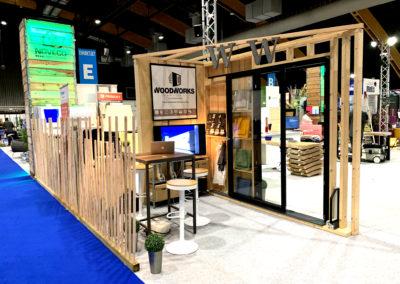 Agencement, stand Foire de Tours, woodworks