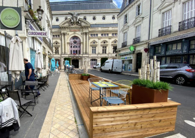 """Aménagement terrasse du restaurant """"La dinette""""_woodworks"""